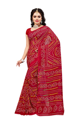 Red Color Georgette Saree - VDKML341
