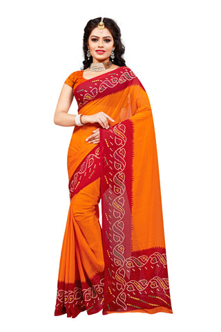 Orange Color Georgette Saree - VDKML342