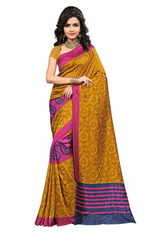 Mustard Color Maysor Silk - VDKSMRI351