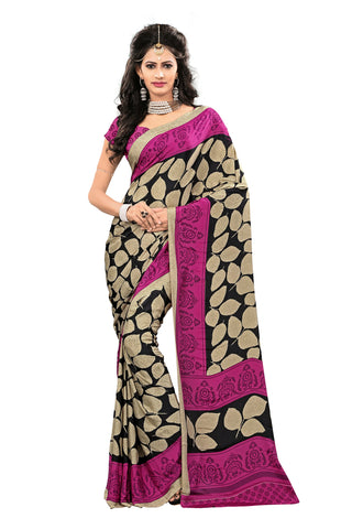 Multi Color Crepe Saree - VDSUNY227