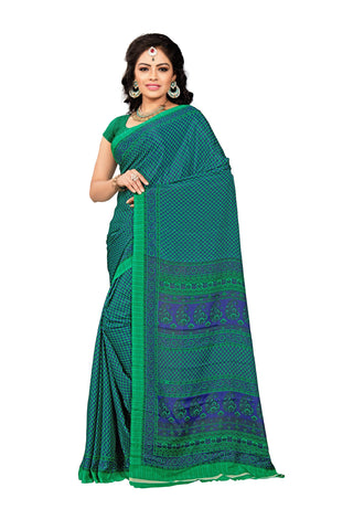 Green Color Crepe Saree - VDSUNY329
