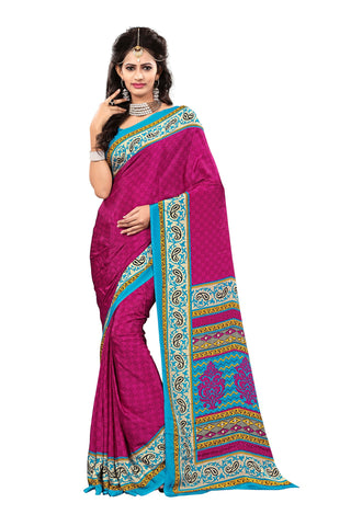 Rani Color Crepe Saree - VDSUNY506A