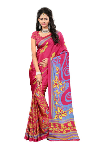 Pink Color Crepe Saree - VDSUNY509B