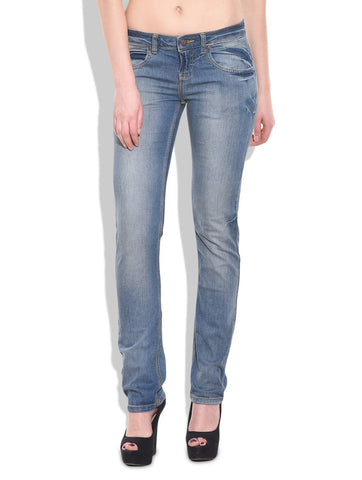 Blue Color Organic Cotton Women Jeans - VEF-CeruleanLight