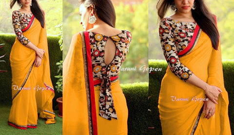 Yellow Color Georgette Saree - VF-2086