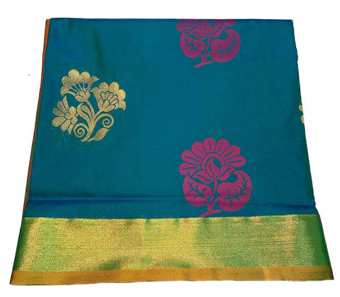 SkyBlue Color Pure Silk Uppada Pattu Saree - VF-325