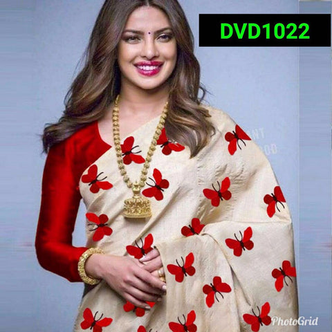 Red and Beige Color South Silk Women's Saree - VF-5083