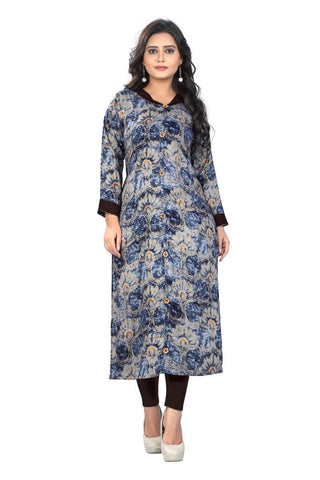 Multi Color Viscose Rayon Stitched Kurti - VF-KU-120