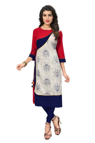 Multi Color Cotton Stitched Kurti - VF-KU-136