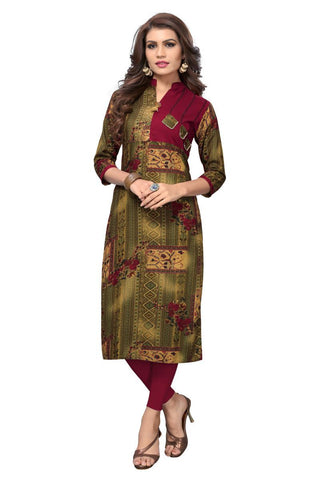 Multi Color Viscose Rayon Stitched Kurti - VF-KU-148