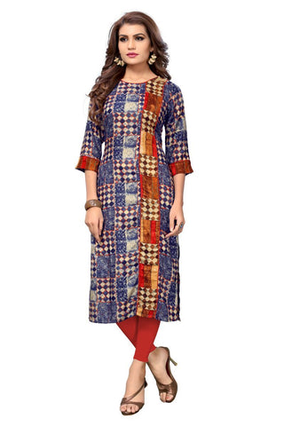 Multi Color Viscose Rayon Stitched Kurti - VF-KU-151