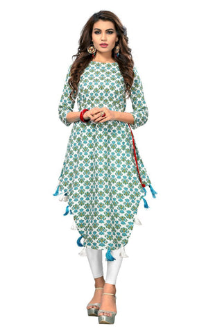 Multi Color Cotton Stitched Kurti - VF-KU-162