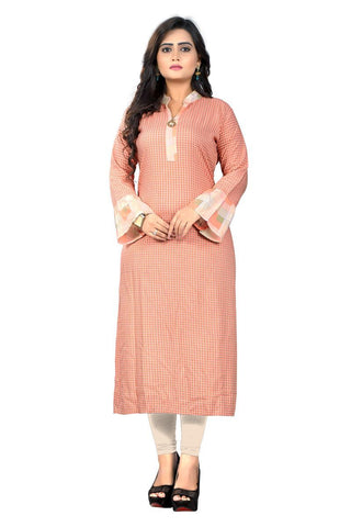 Pink Color Viscose Rayon Stitched Kurti - VF-KU-167