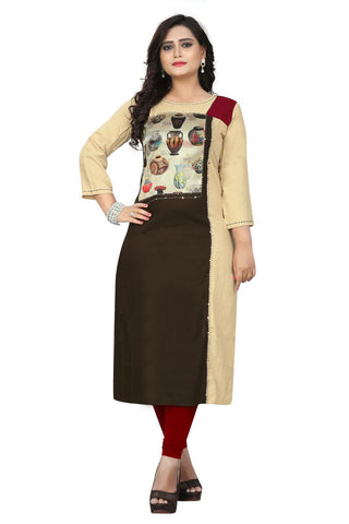 Multi Color Viscose Rayon Stitched kurti - VF-KU-201