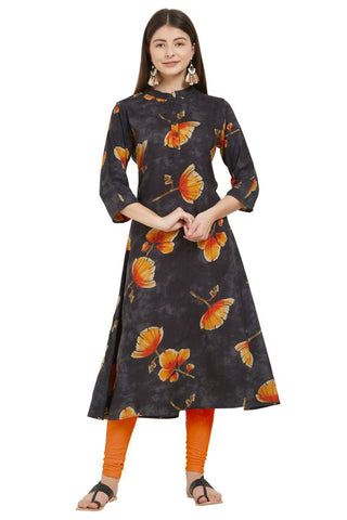 Multi  Color Rayon Stitched Kurti - VF-KU-234
