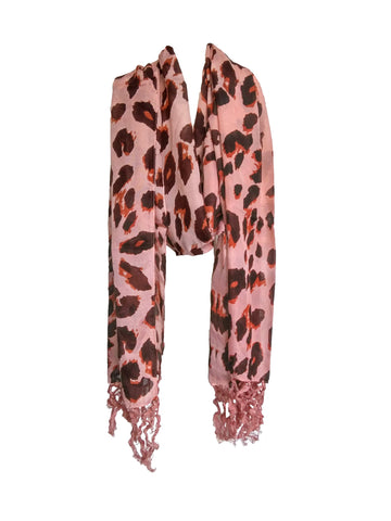 Brown Color PolyCotton Women Scarf - VFH-10316