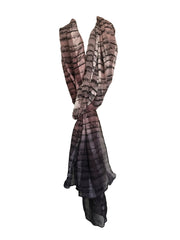 Brown Color Silk Women Scarf