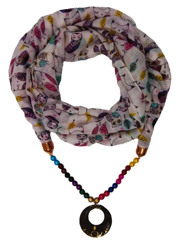 Multi Color PolyCotton Women Scarf - VFH-10325
