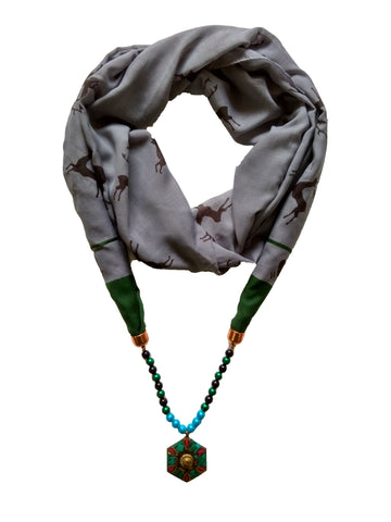 Multi Color PolyCotton Women Scarf - VFH-10326