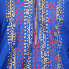 Blue Color Cotton Stitched Kurti - VFK-0126