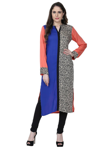 Multi Color Rayon Stitched Kurti - VFK-0174