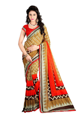 Beige Color Silk Saree - VICHITRA-01