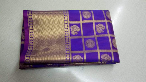 Purple and Rani Color ArtSilk Saree - VOILET001