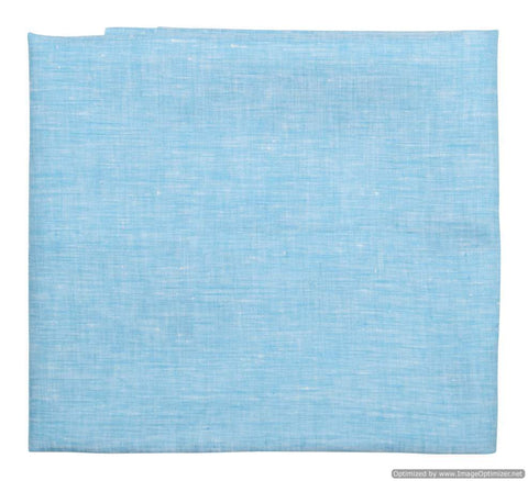 Sky Blue Color Linen Mens Shirt Cloth - VS-12
