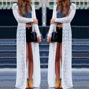 White Color Lace Net Stitched Shrug - VS018