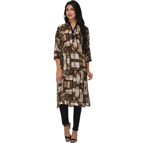 Multi Color Rayon Stitched Kurti - VS1004