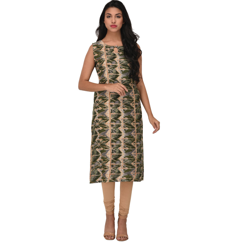 Buy Multi Color Rayon Kurti