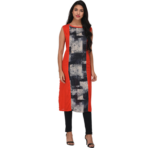 Multi Color Rayon Stitched Kurti - VS1007