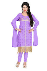 Buy Lavender Color Chanderi Unstitched Salwar
