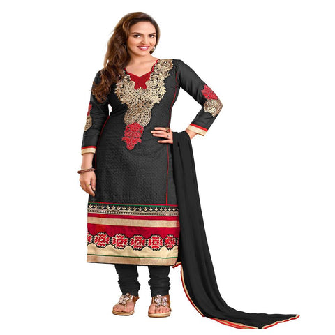 Black Color Cotton Un Stitched Salwar  - VSAYESHA06