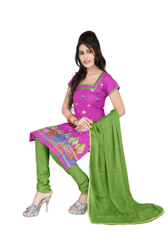 Rani Color Cotton Unstitched Salwar - VSCRBR105