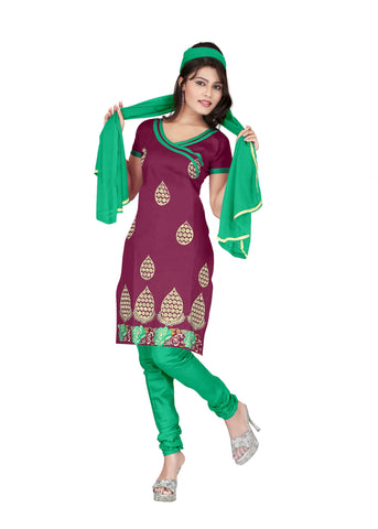 Zamli Color Cotton Unstitched Salwar - VSCRBR109
