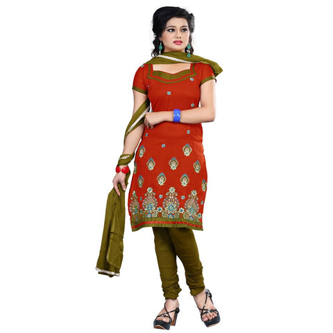 Brown Color Cotton Un Stitched Salwar  - VSCRBR203