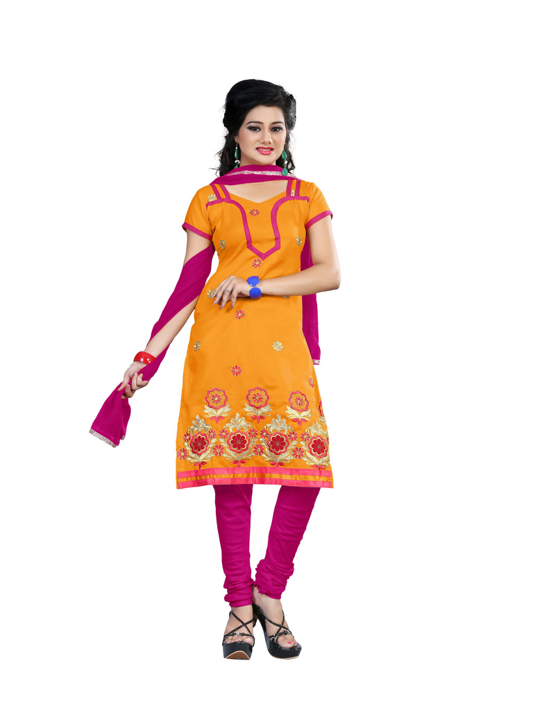 Buy Lavender Color Cotton Unstitched Salwar