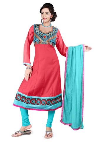 Dark Gajri Color Semi Cotton Unstitched Salwar - VSFSNLK01