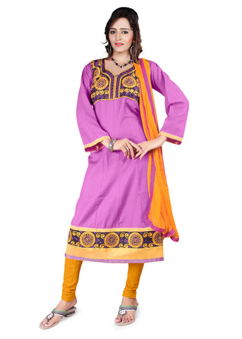 Lavender Color Semi Cotton Unstitched Salwar - VSFSNLK04