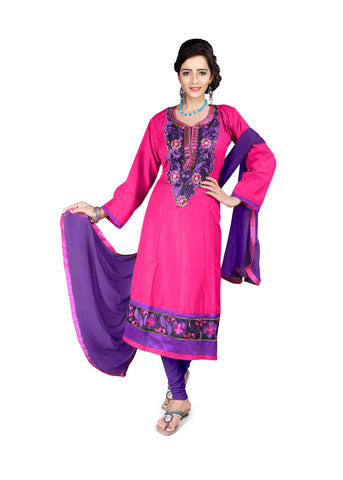 Rani Color Semi Cotton Unstitched Salwar - VSFSNLK09