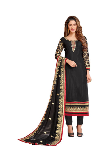 Black  Color Georgette Un Stitched Salwar - VSGGKMNK1102