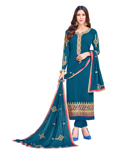 Blue  Color Georgette Un Stitched Salwar - VSGGKMNK1106