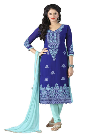Blue Color Georgette UnStitched Salwar - VSKIYARA904