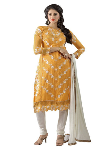 Orange Color Georgette UnStitched Salwar - VSKIYARA905