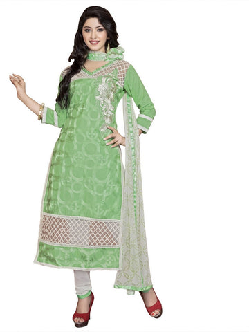 Green Color Cambric UnStitched Salwar - VSMASTANI705