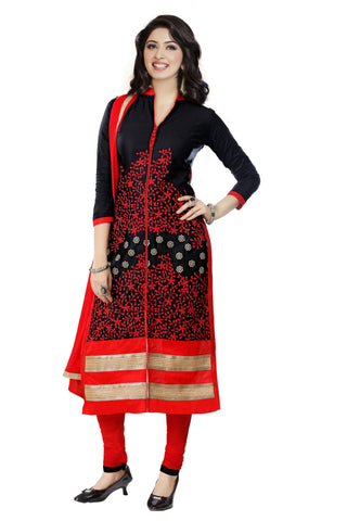 Black Color Cambric UnStitched Salwar - VSMASTANI801