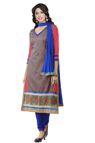 Multi Color Cambric UnStitched Salwar - VSMASTANI802