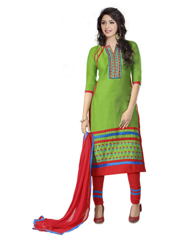 Green Color Cambric UnStitched Salwar - VSMASTANI805