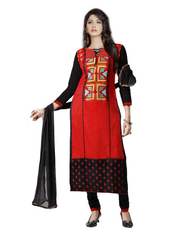 Red Color Cambric UnStitched Salwar - VSMASTANI811
